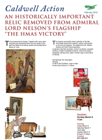 "AN HISTORICALLY IMPORTANT RELIC REMOVED FROM ADMIRAL LORD NELSON'S FLAGSHIP ""THE HMAS VICTORY"" - February 2015"