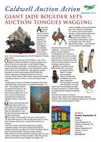 GIANT JADE BOULDER SET AUCTION TONGUES WAGGING  -  September 2017