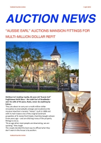 """AUSSIE EARL"" AUCTIONS MANSION FITTINGS FOR MULTI-MILLION DOLLAR REFIT - April 2019"